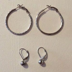 Jewelry - Set of 2 925 sterling silver earrings